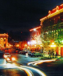 Downtown Gainesville at Night